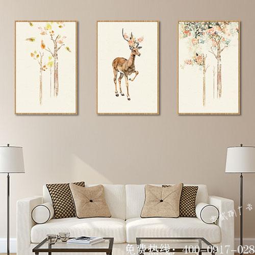 客厅墙面装饰画制作