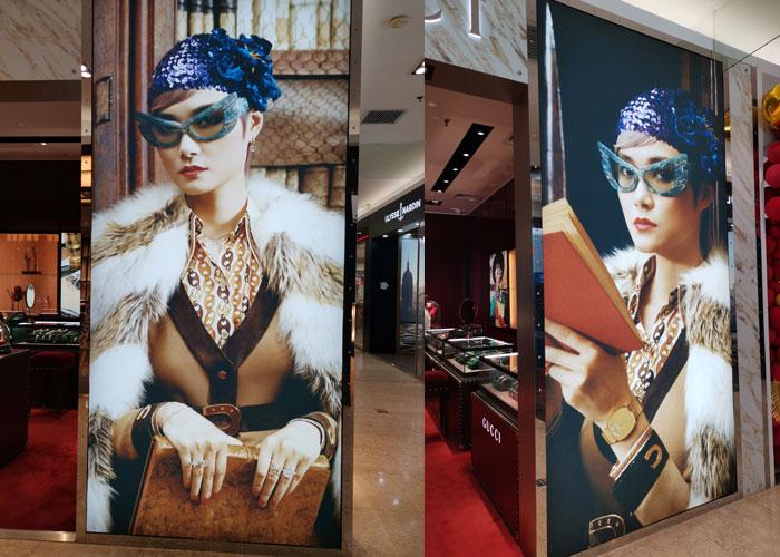 奢侈品品牌门面形象广告制作安装